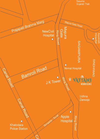 Location Map - Vatiani Neuro Clinic Surat